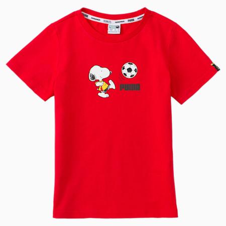 PUMA x PEANUTS キッズ Tシャツ 92-152cm, High Risk Red, small-JPN