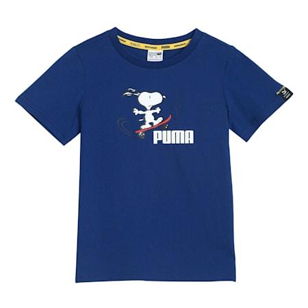PUMA x PEANUTS Kids'  T-shirt, Elektro Blue, small-IND