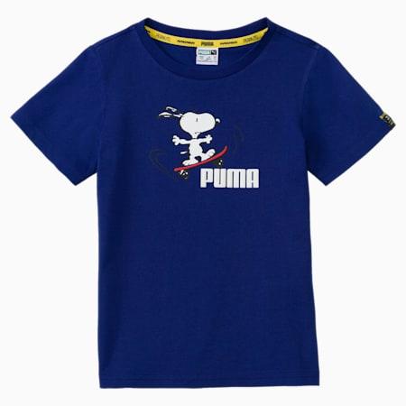 PUMA x PEANUTS Kids' Tee, Elektro Blue, small-GBR