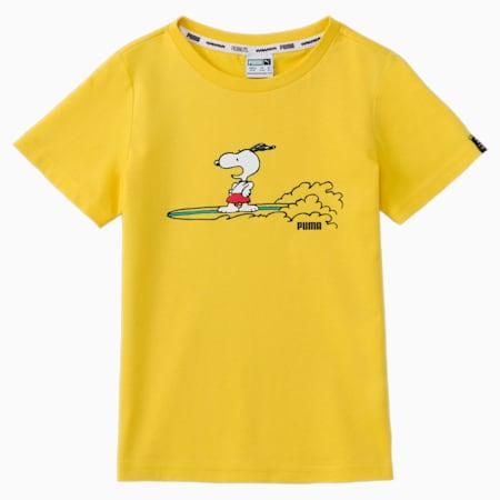 Dziecięcy T-shirt PUMA x PEANUTS, Maize, small