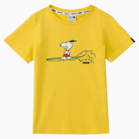 PUMA x PEANUTS Kids' Tee, Maize, small
