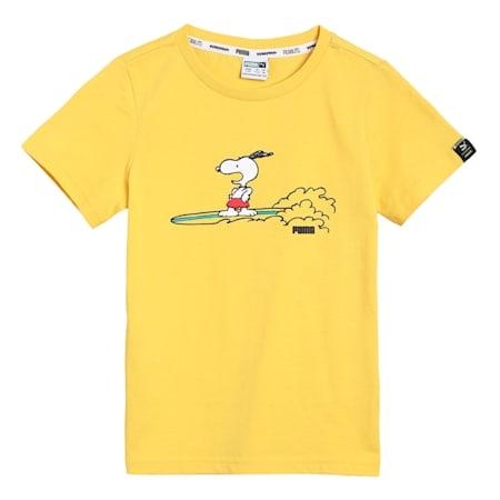PUMA x PEANUTS Kids'  T-shirt, Maize, small-IND