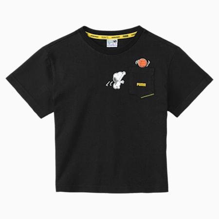 Camiseta PUMA x PEANUTS para niños, Puma Black, small