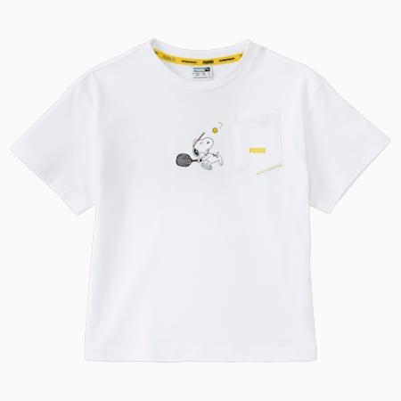 Dziecięcy T-shirt PUMA x PEANUTS, Puma White, small