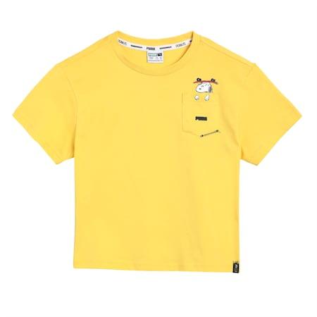 PUMA x PEANUTS Kids' Relaxed T-shirt, Maize, small-IND