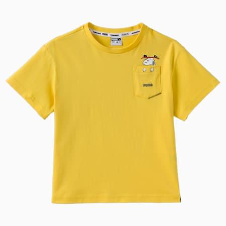 T-shirt PUMA x PEANUTS, fille, Maïs, petit