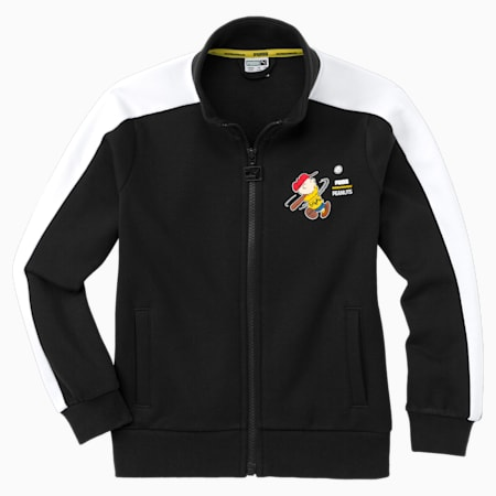 PUMA x PEANUTS Kids' Track Jacket, Puma Black, small-SEA