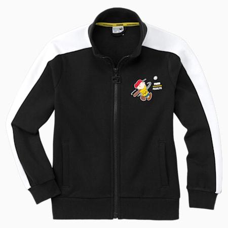 PUMA x PEANUTS Kids' Track Jacket, Puma Black, small-SEA