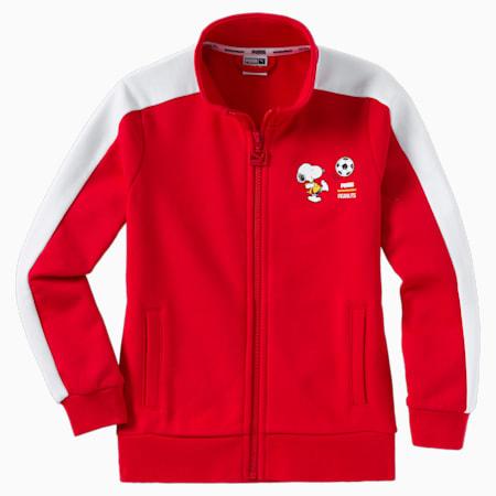 PUMA x PEANUTS Kids' Track Jacket, High Risk Red, small-SEA