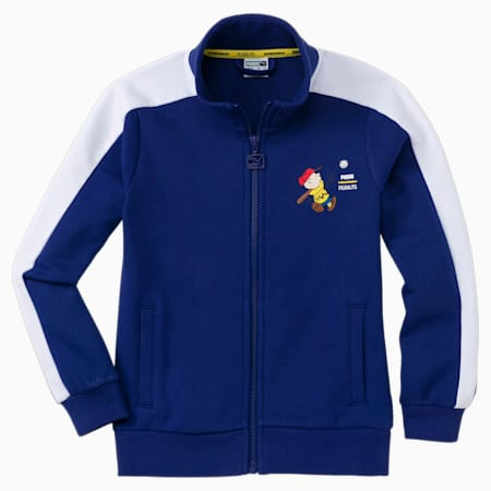 PUMA x PEANUTS Kids' Track Jacket, Elektro Blue, small