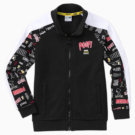 PUMA x PEANUTS Kids' Track Jacket, Puma Black, small-GBR