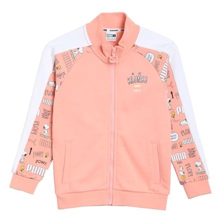 PUMA x PEANUTS Kids' Track Jacket, Apricot Blush, small-IND