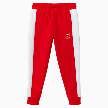 Dziecięce spodnie dresowe PUMA x PEANUTS, High Risk Red, small
