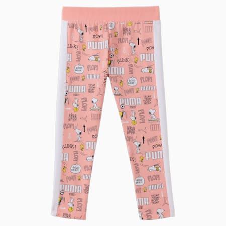 Dziecięce legginsy PUMA x PEANUTS, Apricot Blush-AOP, small