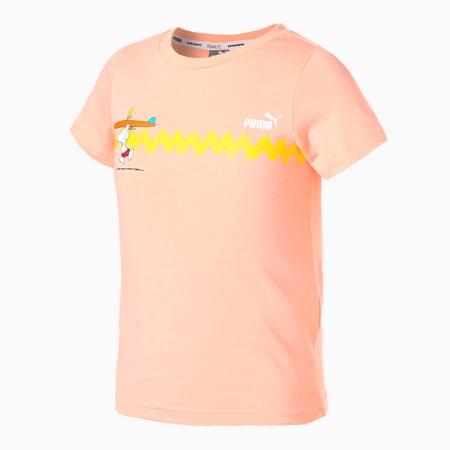 PUMA x PEANUTS Graphic Kids' Tee, Apricot Blush, small-SEA