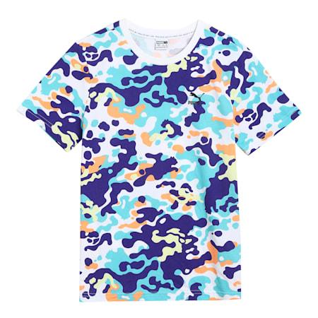 Classics Graphic Kid's   T-shirt, Elektro Blue, small-IND