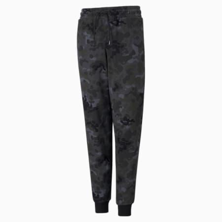 Młodzieżowe spodnie dresowe Classics z nadrukiem, Puma Black-AOP, small