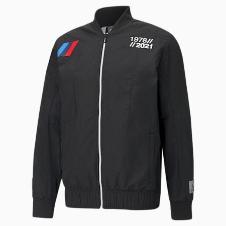 BMW M Motorsport Woven Men's Street Jacket, Puma Black, small-GBR