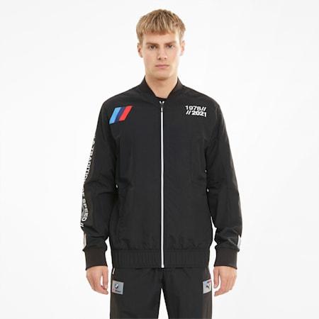 BMW M Motorsport Woven Men's Street Jacket, Puma Black, small