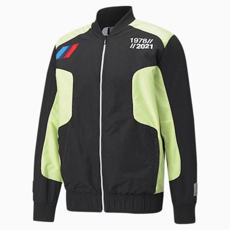 BMW M Motorsport Woven Men's Street Jacket, SOFT FLUO YELLOW, small