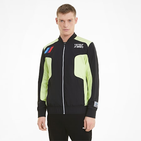 BMW M Motorsport Woven Men's Street Jacket, SOFT FLUO YELLOW, small-IND