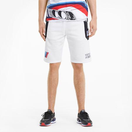 BMW M Motorsport Knitted Men's Street Shorts, Puma White, small