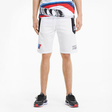 BMW M Motorsport Street Herren Shorts, Puma White, small