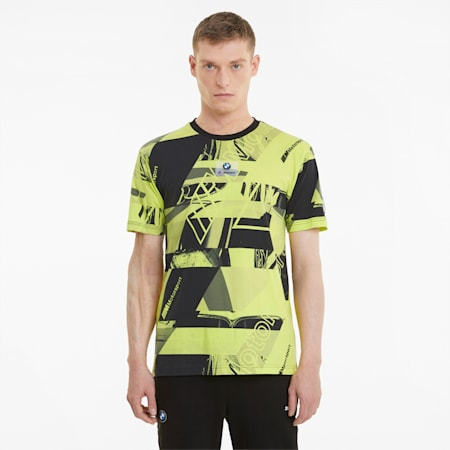 T-shirt imprimé BMW M Motorsport Street homme, SOFT FLUO YELLOW AOP, small