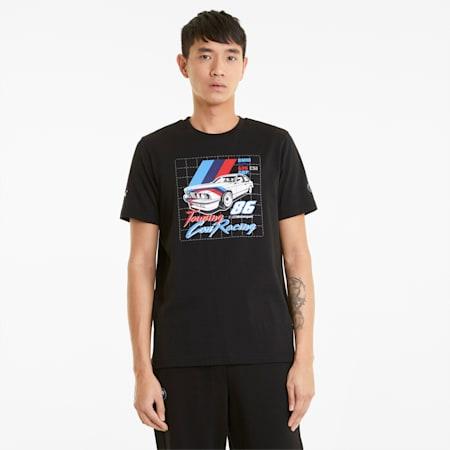 BMW M Motorsport Vintage Men's  T-shirt, Puma Black, small-IND