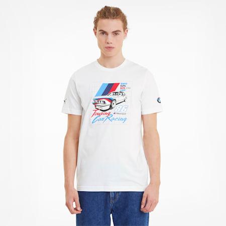 BMW M Motorsport Vintage Men's  T-shirt, Puma White, small-IND