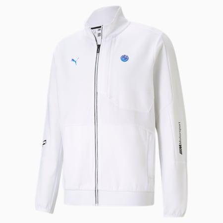 BMW M Motorsport RCT Men's Sweat Jacket, Puma White, small-IND