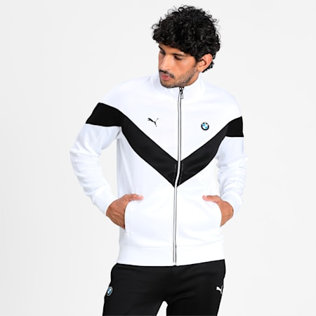 BMW M Motorsport MCS Men's Track Jacket, Puma White, small-IND