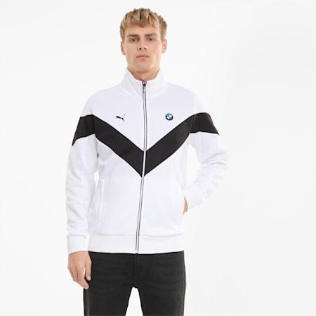 BMW M Motorsport Men's MCS Track Jacket, Puma White, small