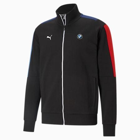 BMW M Motorsport Men's T7 Sweat Jacket, Puma Black, small-SEA
