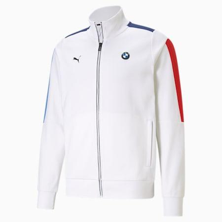 BMW M Motorsport T7 Men's Sweat Jacket, Puma White, small-IND