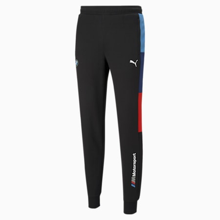 BMW M Motorsport Knitted T7 Men's Sweatpants, Puma Black, small-SEA