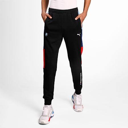 BMW M Motorsport Knitted T7 Men's Slim SweatPants, Puma Black, small-IND