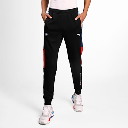 BMW M Motorsport Knitted T7 Men's Sweatpants, Puma Black, small-IND