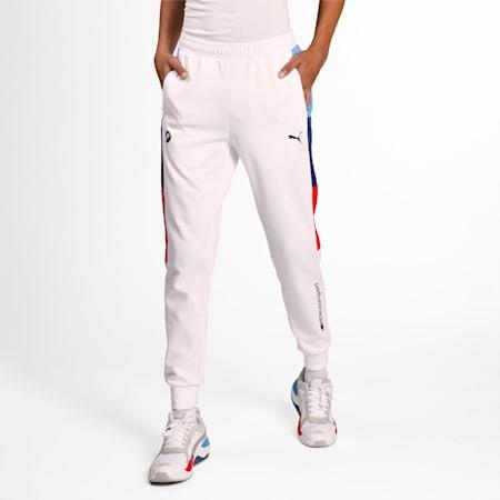 BMW M Motorsport Knitted T7 Men's Slim SweatPants, Puma White, small-IND
