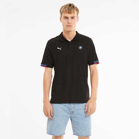 BMW M Motorsport Men's Polo Shirt, Puma Black, small-GBR