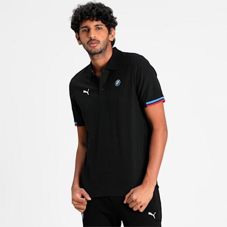 BMW M Motorsport Men's Polo Shirt, Puma Black, small-IND