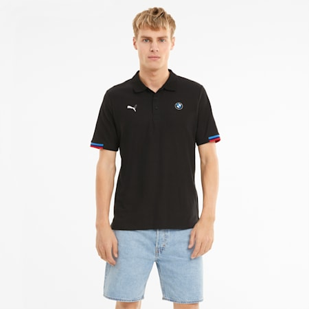 BMW M Motorsport Men's Polo Shirt, Puma Black, small-SEA