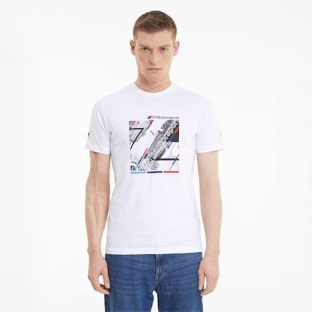 BMW M Motorsport Graphic Men's  T-shirt, Puma White, small-IND