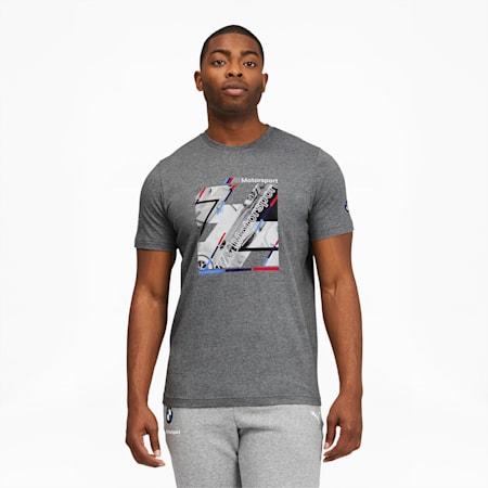 T-shirt graphique BMW M Motorsport, homme, Gris bruyère moyen, petit