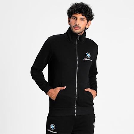 BMW M Motorsport Essentials Men's Sweat Jacket, Puma Black, small-IND