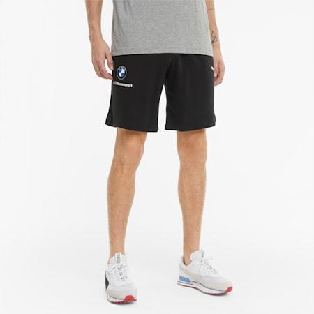 BMW M Motorsport Essential Men's Sweat Shorts, Puma Black, small
