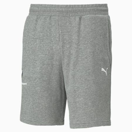 BMW M Motorsport Essential Men's Sweat Shorts, Medium Gray Heather, small