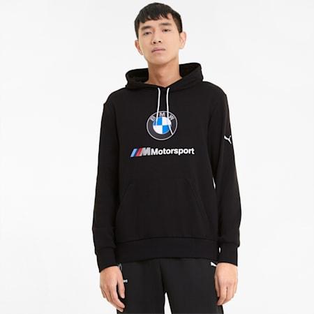BMW M Motorsport Essential Men's Hoodie, Puma Black, small