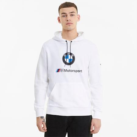 BMW M Motorsport Essential Men's Hoodie, Puma White, small-GBR