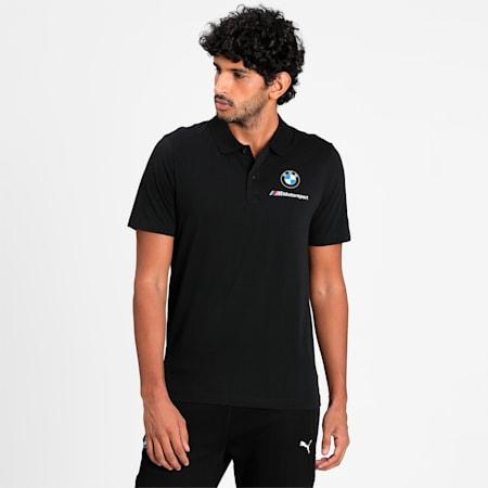 BMW M Motorsport Essentials Men's Polo Shirt, Puma Black, small-IND